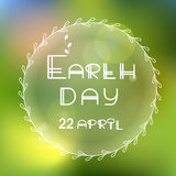 Earth day vector Stock Photography