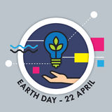 Earth Day vector illustration Stock Photos