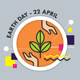 Earth Day vector illustration Stock Photography