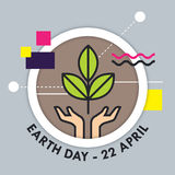 Earth Day vector illustration Royalty Free Stock Photography