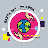 Earth Day vector illustration Stock Images