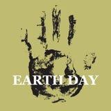 Earth day. Vector illustration. Human hand track. Earth day. Vector illustration Human hand Stock Images