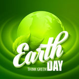 Earth Day. Vector illustration with the words Stock Images