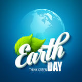 Earth Day. Vector illustration with the words Royalty Free Stock Photos