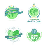 Earth day vectors. Digitally generated Earth day vectors Stock Images