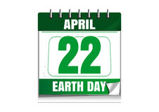 Earth Day. Wall calendar. 22 April Stock Photos