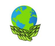 Earth day the wolrd royalty free illustration