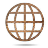 Earth day wood Royalty Free Stock Photos