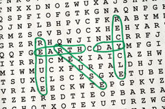 Earth Day Word Search Puzzle Stock Images