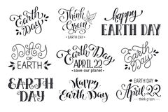 Earth day wording Royalty Free Stock Photography