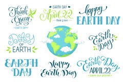 Earth day wording Royalty Free Stock Images