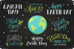 Earth day wording Stock Image