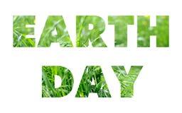 Earth Day words concept Stock Photos