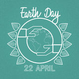 Earth Day World Hand Hold Globe Ecological Protection Royalty Free Stock Photos