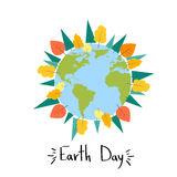Earth Day World Tree Plant Concept Round Globe Banner Stock Photography