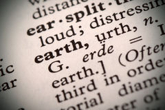 Earth Definition Stock Photo