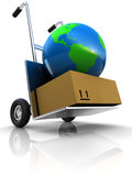 Earth delivery Royalty Free Stock Photography