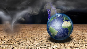 Earth in desert Royalty Free Stock Image