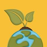 Earth design. Over orange background vector illustration Stock Photo