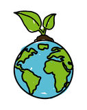 Earth design. Over white background vector illustration Stock Photos
