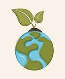 Earth design. Over white background vector illustration Stock Photo