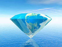 Earth is a diamond - 3D render Royalty Free Stock Images