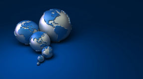 The Earth in different sizes stock illustration