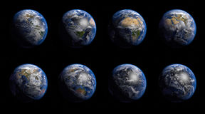 The Earth. Different views from the space Stock Photos