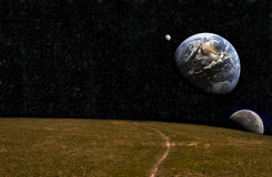 Earth from a different wiew Royalty Free Stock Photography