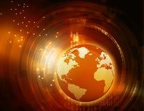 Earth with digital fiber, Stock Photos