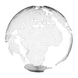 Earth with dots Royalty Free Stock Image