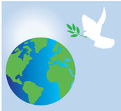 Earth and dove Royalty Free Stock Images