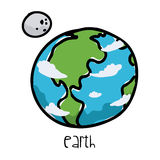 Earth drawn Royalty Free Stock Images