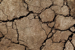 Earth dried up in drought Royalty Free Stock Images