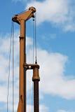 Earth Drill Bore Machine. Orange Earth Drill Bore Machine stock image