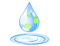 Earth in a drop Royalty Free Stock Photo