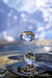 Earth in drop of water. Royalty Free Stock Photo