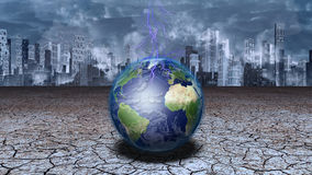 Earth Dystopia royalty free illustration