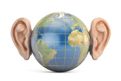 Earth with ears, 3D Stock Image