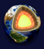 Earth. Apple core geology multi-layered effect digital composite globe pastry crust Stock Photos