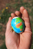 Earth Easter egg Royalty Free Stock Photos