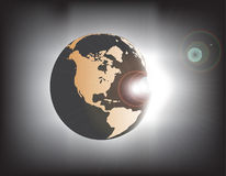 Earth eclipse Royalty Free Stock Photo