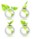 Earth eco icons Royalty Free Stock Images