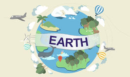 Earth Ecology Environment Conservation Globe Concept.  Stock Photo