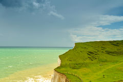 On the earth edge. Image was taken on July 2012 near Seaford, Sussex in England Royalty Free Stock Image