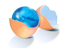 Earth in eggshell Royalty Free Stock Image