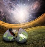 Earth egg is hatched Stock Photography