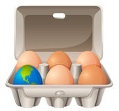 Earth in egg shape Stock Photography
