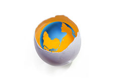 The Earth in eggs Royalty Free Stock Photography