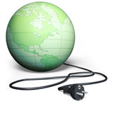 Earth electric cord Stock Photo